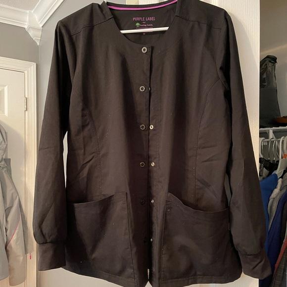 Black scrub jacket